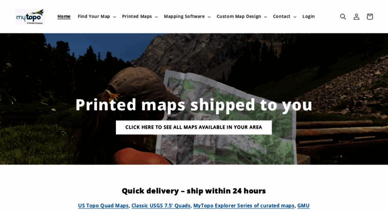 Access mapserver.mytopo.com. MyTopo Free Online Topo Maps