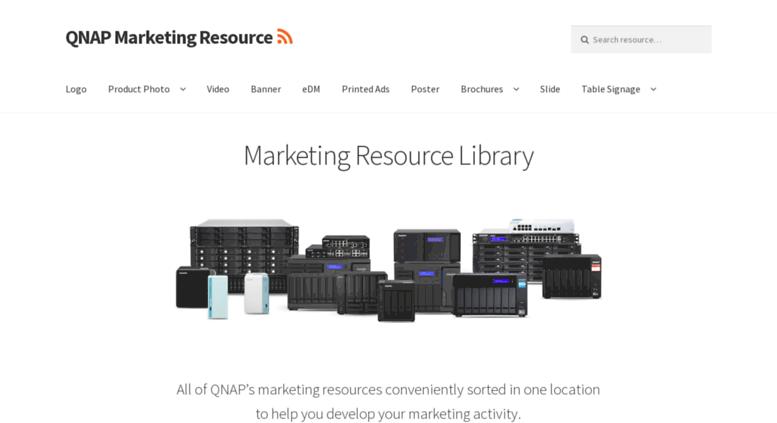 Access marketing qnap com  QNAP Marketing Resource