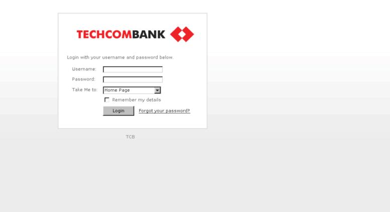 Access marketing techcombank com vn  Control Panel