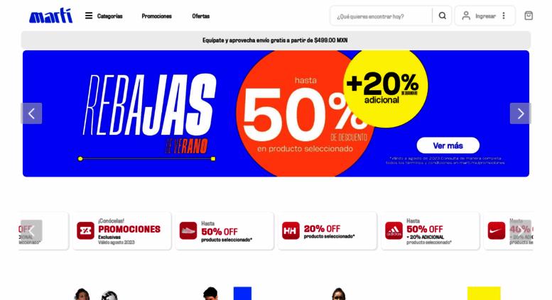 Access marti.mx. Martí® Tienda Deportiva en Línea | Ropa
