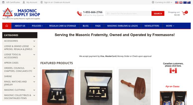 6ef4053539 Access masonicsupplyshop.com. Masonic Supply Shop  Masonic Aprons ...