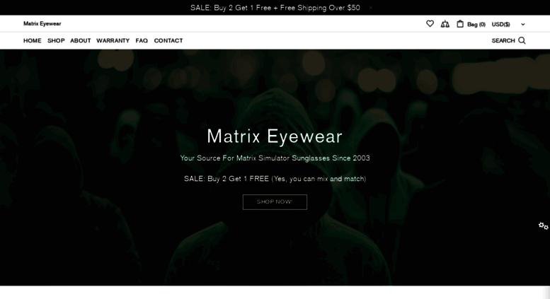 3a6cbd26d109 Access matrixeyewear.com. Matrix Eyewear