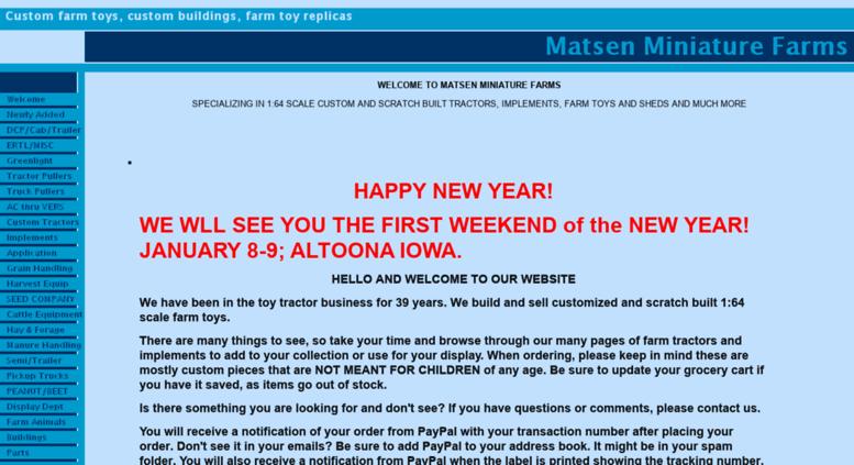 Matsenminiaturefarms Com Screenshot