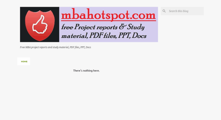 Access mbahotspot com  MBA Project Reports Download l Samlpe