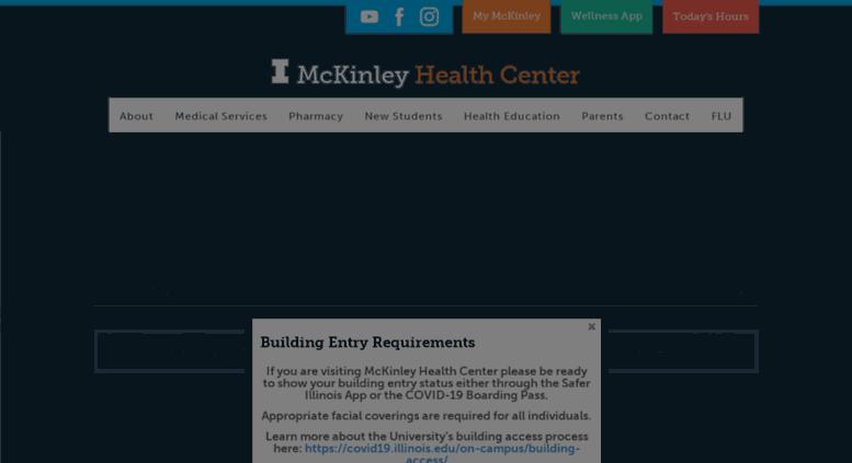 153de9d2fba03f Access mckinley.illinois.edu. McKinley Health Center   University of ...