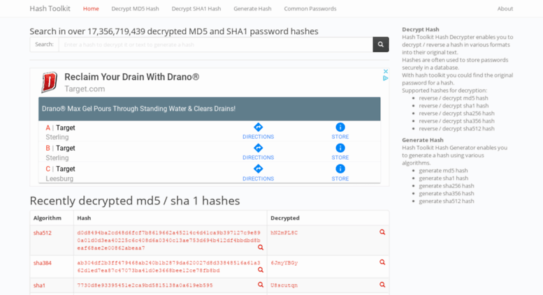 Access md5 rednoize com  Best MD5 & SHA1 Password Hash Decrypter