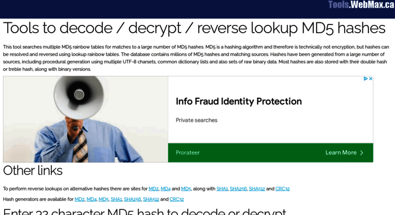 How To Decrypt Md5 Code