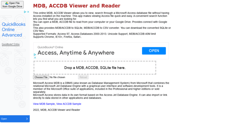 Access mdbviewer herokuapp com  MDB, ACCDB Viewer and Reader