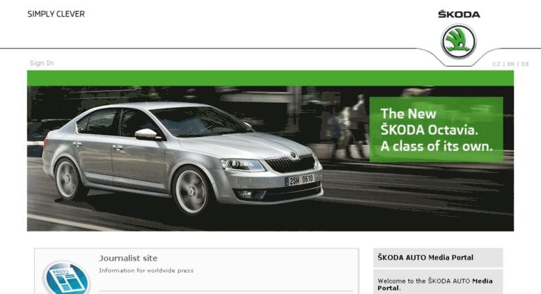 Access mediaportal skoda-auto com  Home - Media Portal