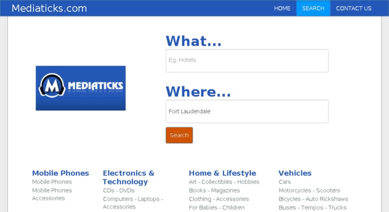 Access mediaticks com  Mediaticks Local Search Engine, Local