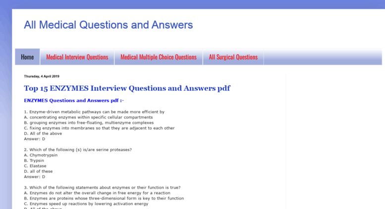 Access medicaliq blogspot in  All Medical Questions and Answers