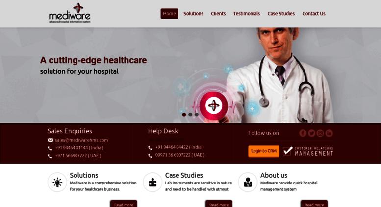 Access mediwarehms com  :: Mediware :: Home : Hospital Management