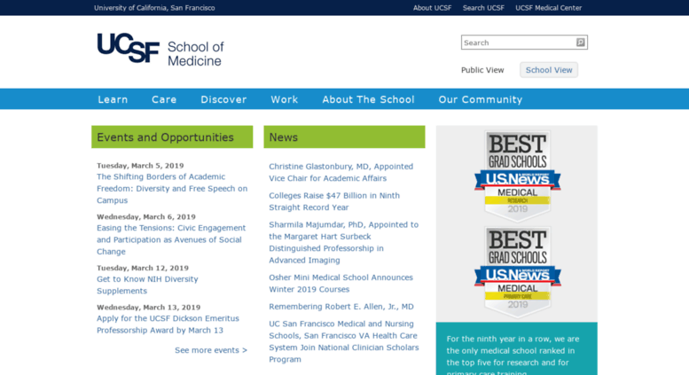 Access medschool2 ucsf edu  Welcome to UCSF School of Medicine