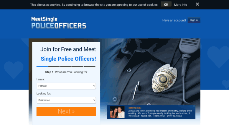how to meet single police officers