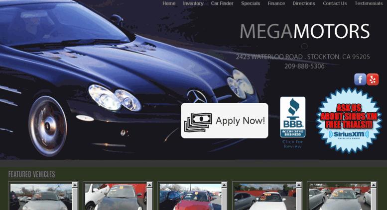 befa975823e Access megamotorsca.com. Mega Motors - Used Cars - Stockton CA Dealer