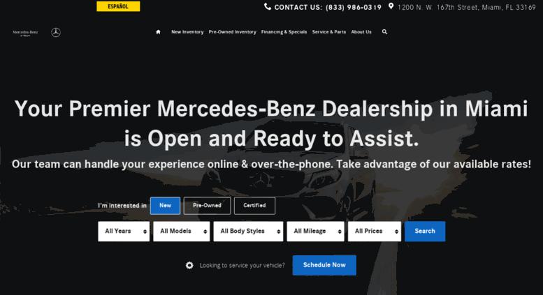 Access mercedesbenzofmiami.com. Mercedes-Benz of Miami ...