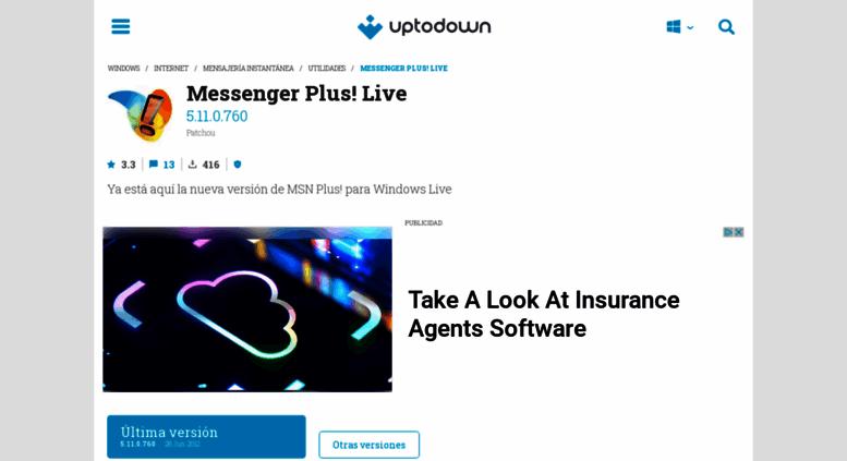 Access messenger-plus-live uptodown com  Messenger Plus! Live 5 11