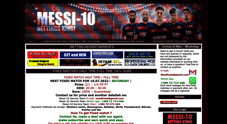 Access messi-10 com  MESSI-10 COM - Fixed Matches Enjoy