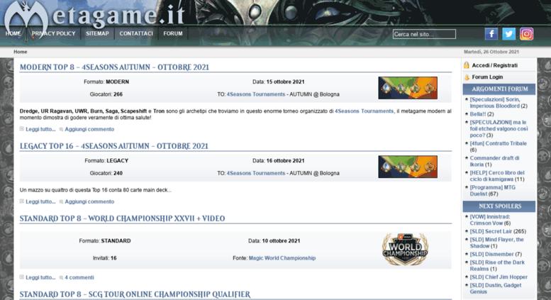 Access metagame it  Metagame it - magic, carte, mazzi magic, top 8