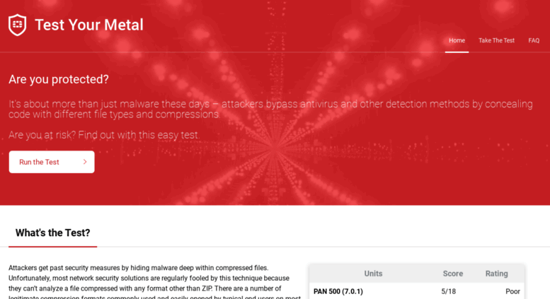 Access metal fortiguard com  Home - Test Your Metal by Fortinet