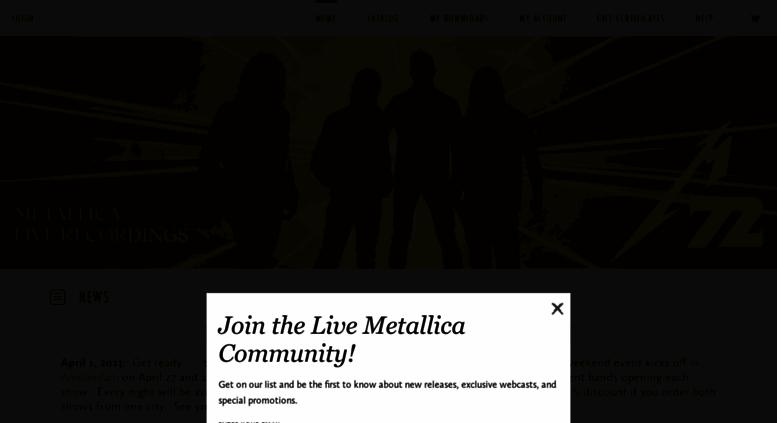 Access metallicalive com  Metallica Live Concert Downloads