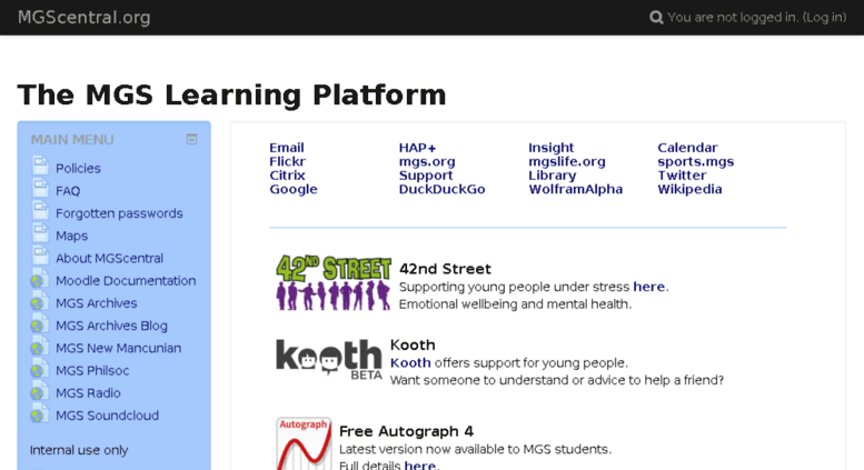 Access mgscentral org  The MGS Learning Platform