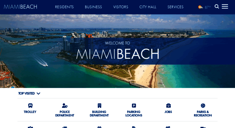 Miamibeachfl Gov Screenshot