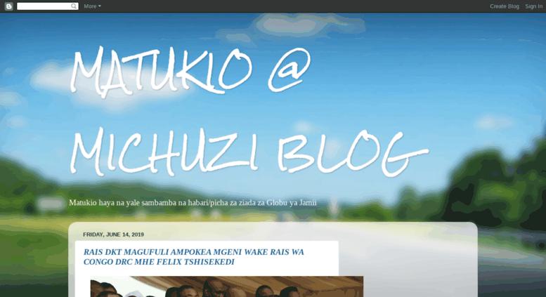 michuzi blog blogspot
