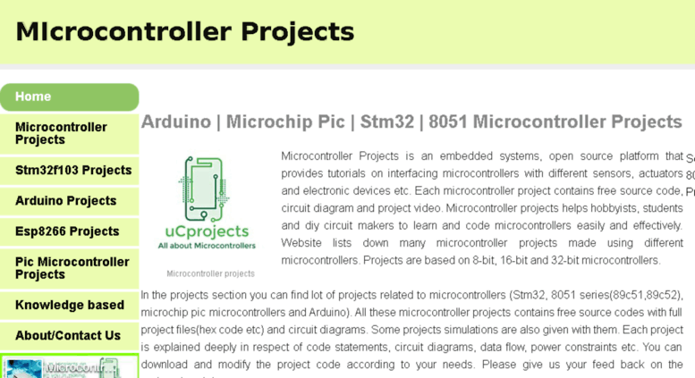 Access microcontroler weebly com  MIcrocontroller Projects - 8051