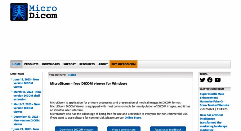 Access microdicom com  MicroDicom - Free DICOM viewer and software