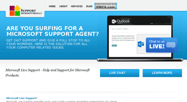 Access microsoftchat.microsoftlivesupport.com. Microsoft Support