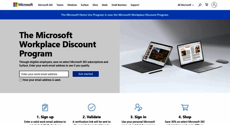 Access microsofthup com  Microsoft Home Use Program – Office 365