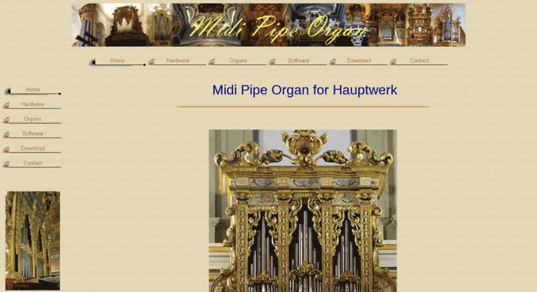 Access midipipeorgan com  Virtual midi pipe organ for Hauptwerk