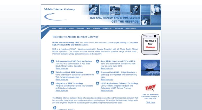 Access mig co za  Send Bulk SMS,BulkSMS,online sms messaging,send
