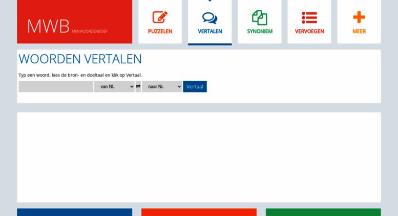 Access mijnwoordenboek.nl. Mijnwoordenboek | Vertalen