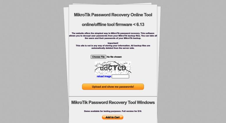 Access mikrotikpasswordrecovery net  MikroTik Password