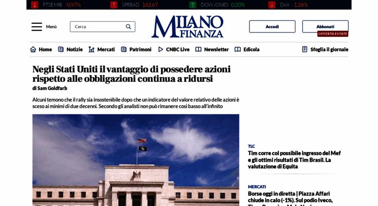 milano finanza news