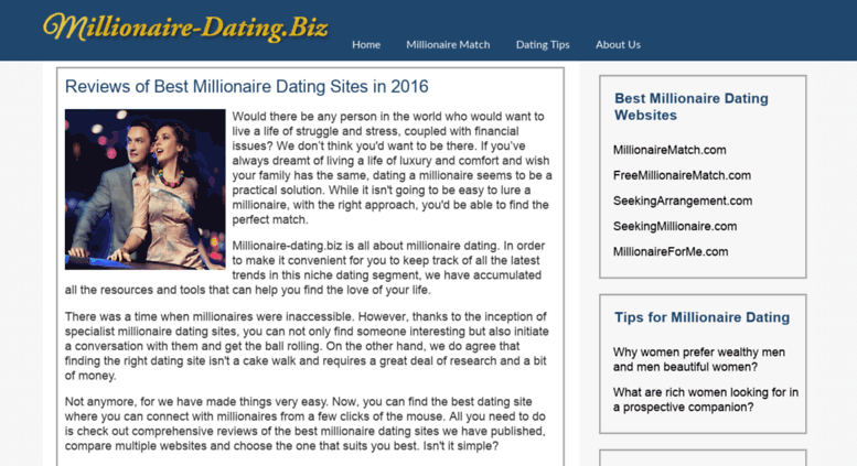 Best millionaire dating sites reviews
