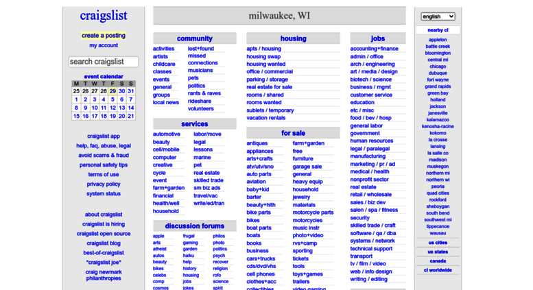 Access milwaukee.craigslist.org. craigslist: milwaukee, WI ...