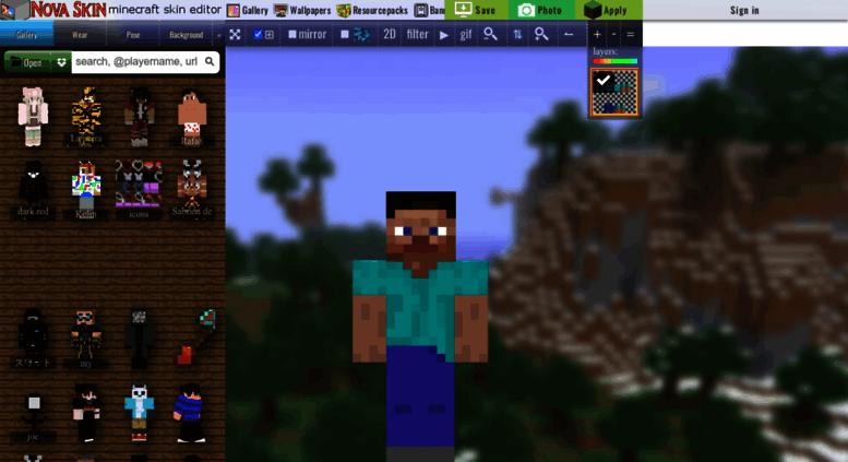 Access Minecraftnovaskinme Nova Skin Minecraft Skin Editor
