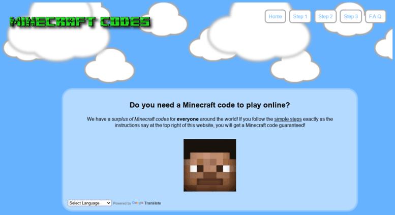 Access minecraftcode freegiftcode com  Minecraft Codes