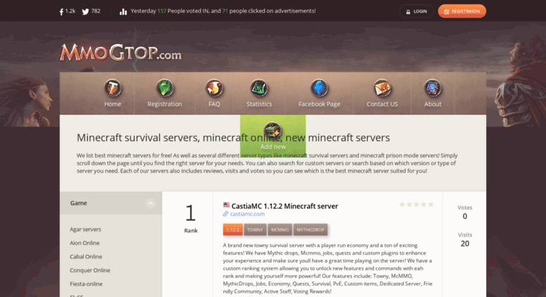 minecraft server list skyblock
