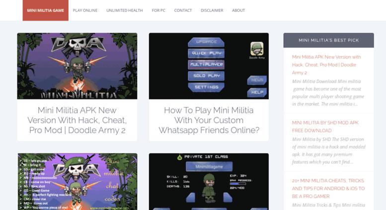 Access minimilitiagame com  Doodle Army 2 : Mini Militia