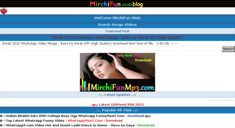 Access mirchifun-mobi blogspot in  Mirchifun-mobi:: Free HD
