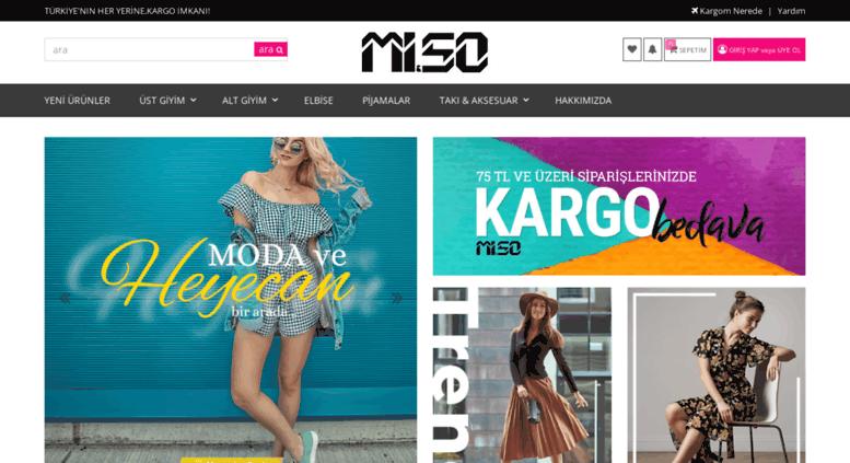 b815c76045d07 Access miso.com.tr. Miso.com.tr - Online Alışveriş Sitesi - Bayan Giyim