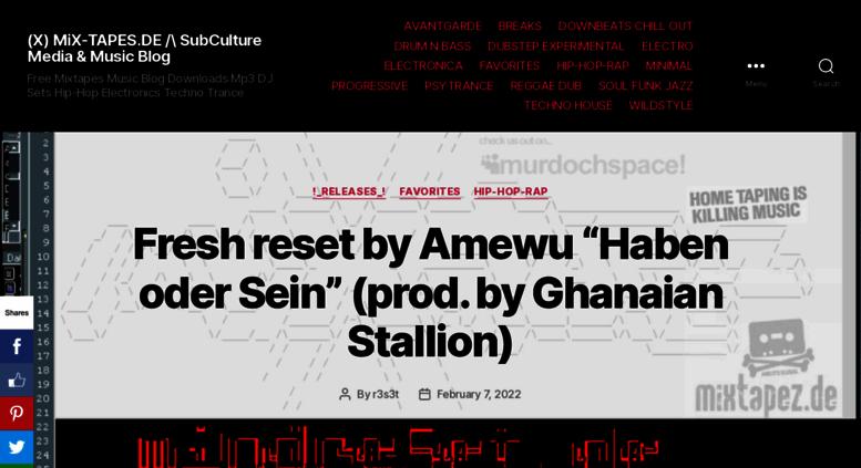 Access mix-tapes de  (X) Free Mixtapes Dj-Sets Mixtapes Mp3