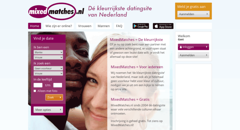Mixed matches dating site