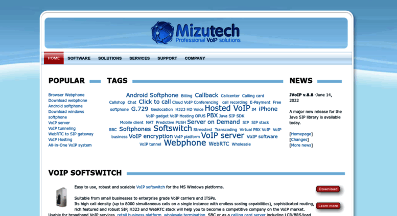 Access mizu-voip com  Mizutech -VoIP software- webphone