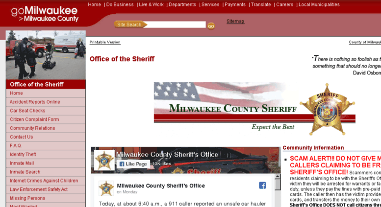 Access mkesheriff org  Office of the Sheriff