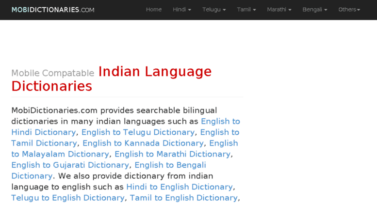 Access mobidictionaries com  Mobile Dictionary in English to